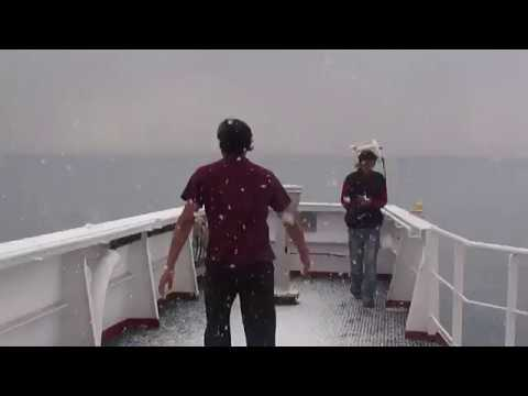 Enjoying snowfall in south China Sea