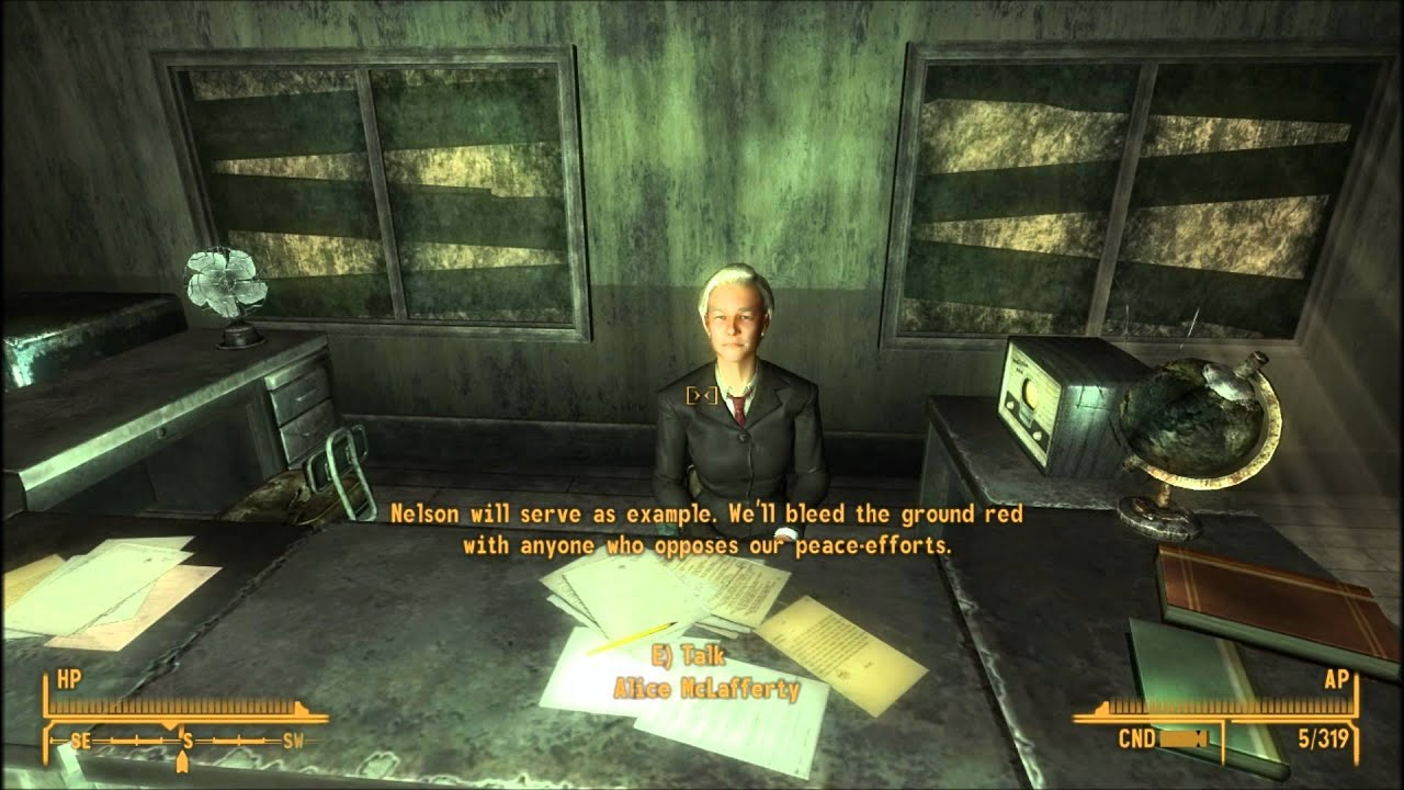 fallout new vegas how to make it past the boomers