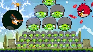 Angry Birds Huge - BIG BOMBER BIRDS HIT 100 HUGE BAD PIGS