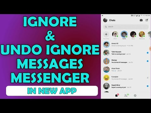 How To Ignore Messages And Unignore Messages On Messenger - Updated App