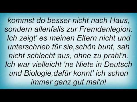 Reinhard Mey - Zeugnistag Lyrics