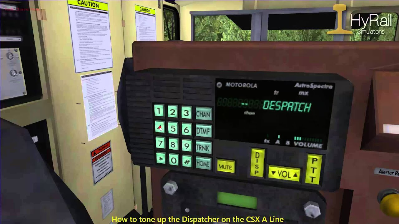 How to tone up the dispatcher on the CSX A line