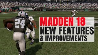 Madden 18 Gameplay Improvements/Features Revealed