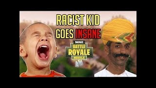 RACIST KID GETS MAD OVER INDIAN ACCENT!!!! (Fortnite Trolling)