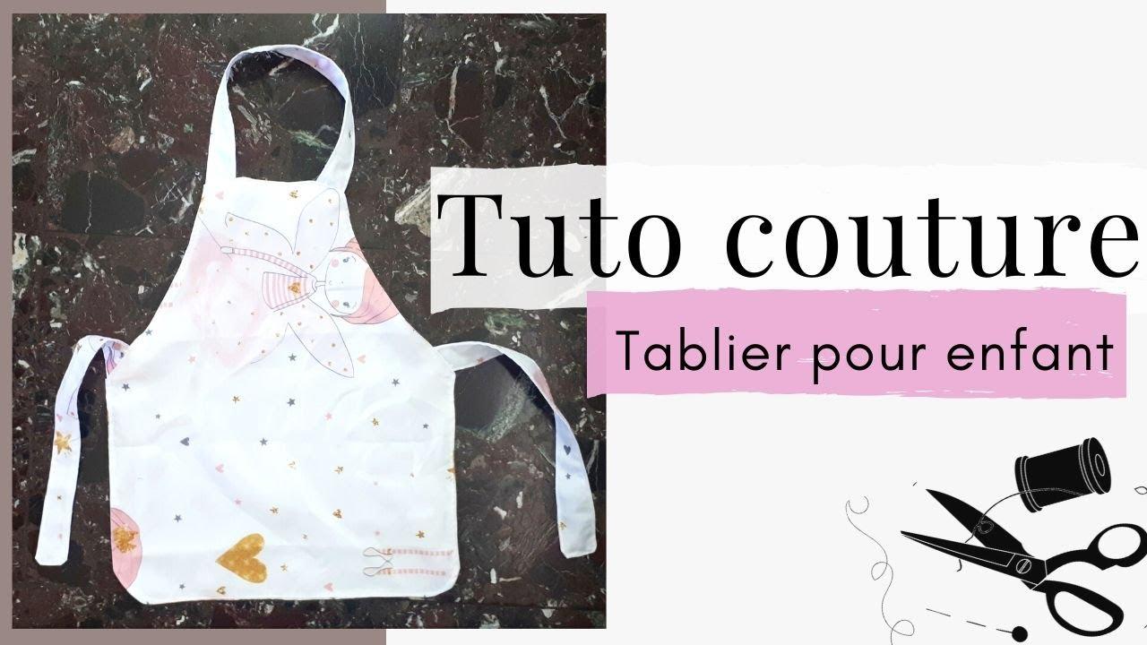 tuto couture facile faire un tablier de cuisine pour enfant