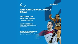 Passion for Paralympics relay -- Live Instagram interview Lacey Henderson & Pedro Pablo de Vinatea