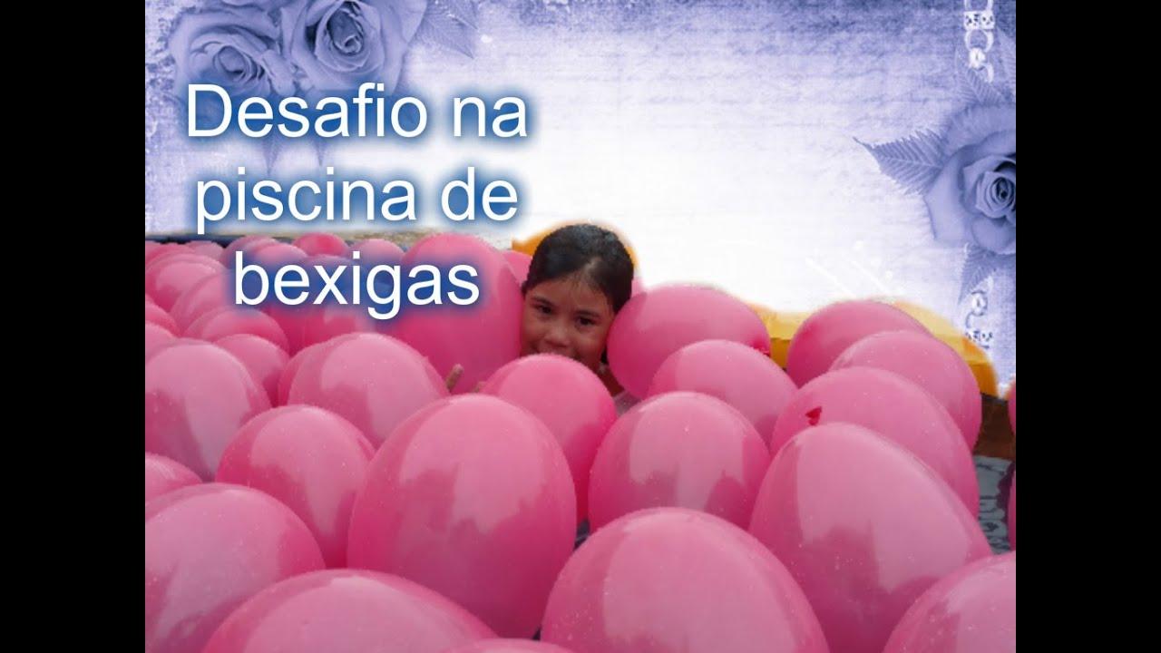 Desafio na piscina com bexigas - Rebeca Costa Silva