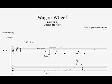 Darius Rucker - Wagon Wheel solo TAB
