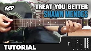 como tocar treat you better de shawn mendes en guitarra tutorial hd acordes guitar lesson