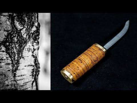 Making a Traditional Finnish Knife Handle from Birchbark