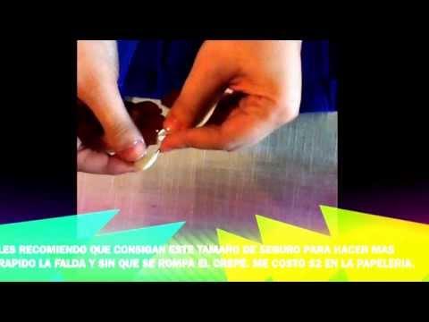 Como hacer faldas de crepé :) hecho por miss mely - YouTube