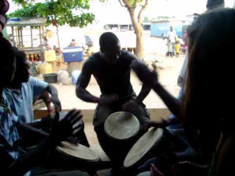 African Drum Circle in Accra Ghana Cultural Arts center 6