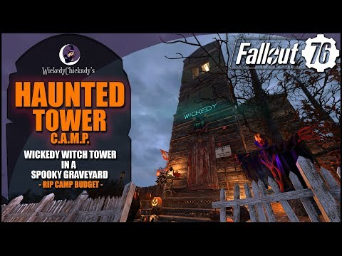 Haunted Tower | Fallout 76 Witch Tower CAMP Build | Spooktober | Mischief Night Rewards | Graveyard