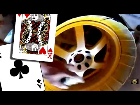 How To Spray Your Rims Using Cards