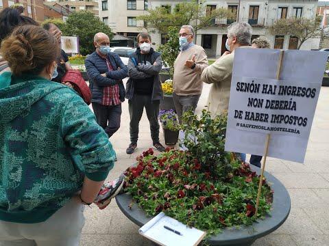 Los hosteleros de O Barco claman contra las restricciones al sector