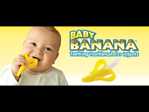 BABY BANANA BRUSH   Babies Are Going Bananas For This Teether