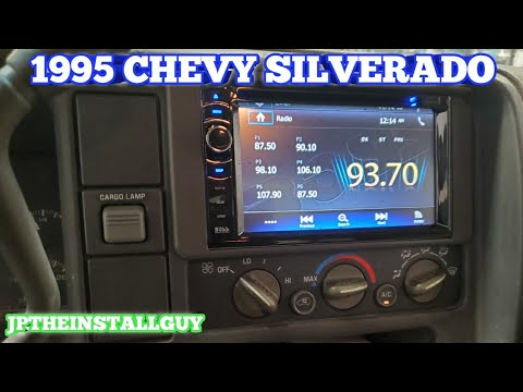 how to install a double din in a 1995 chevy Silverado | 95 chevy pick up radio removal