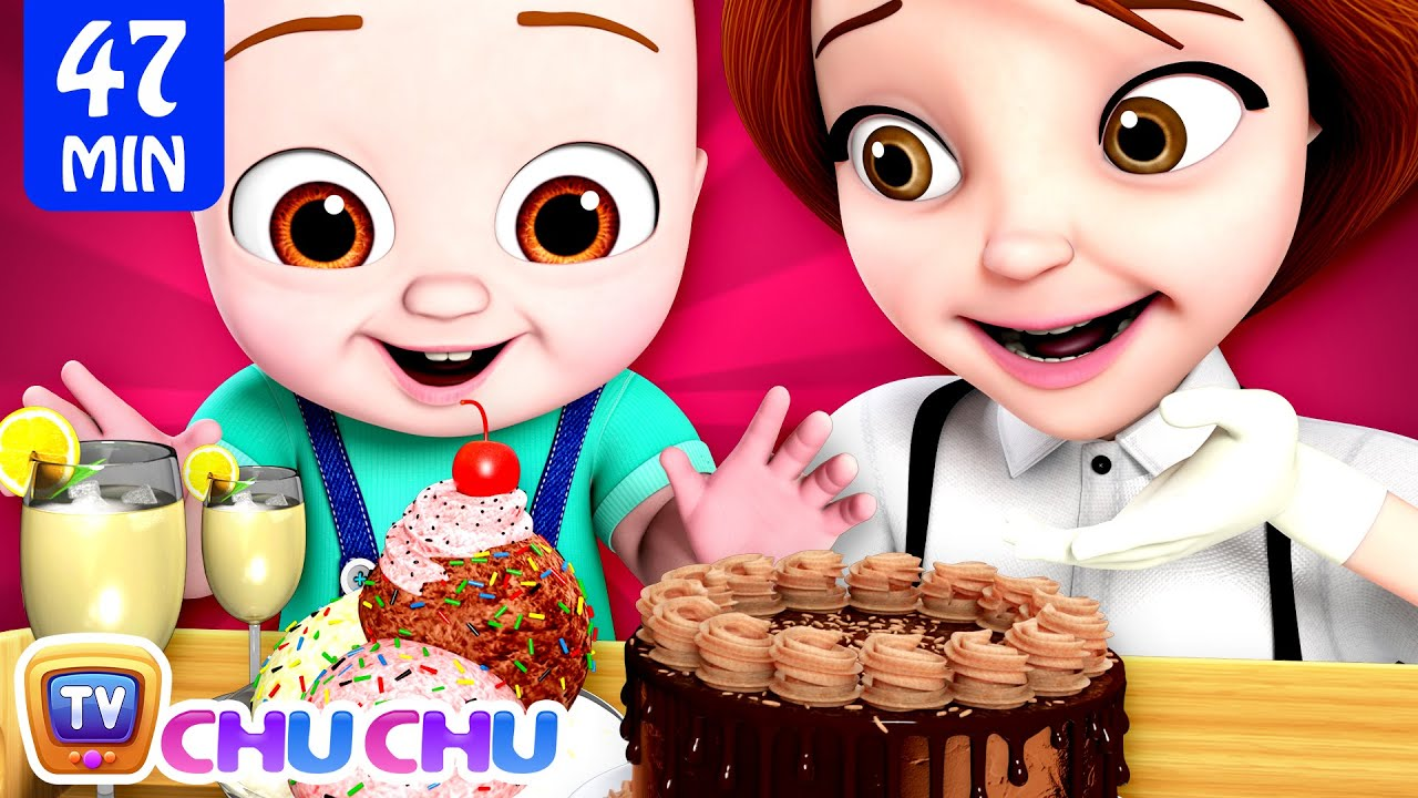 Restaurant at Home Song + More ChuChu TV 3D Baby Nursery Rhymes and Kids Songs