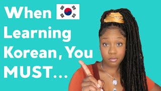 If you're learning Korean watch this...