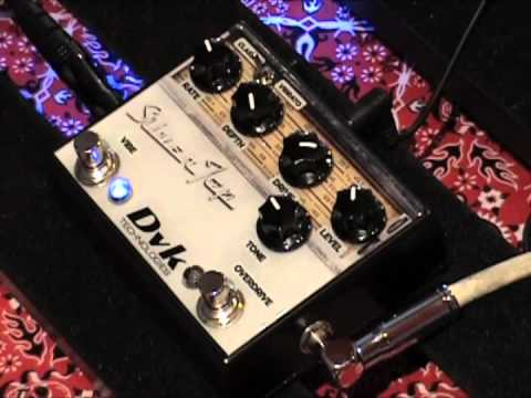 DVK Technologies Silver Top dual effects pedal Vibrato and  Classic Overdrive