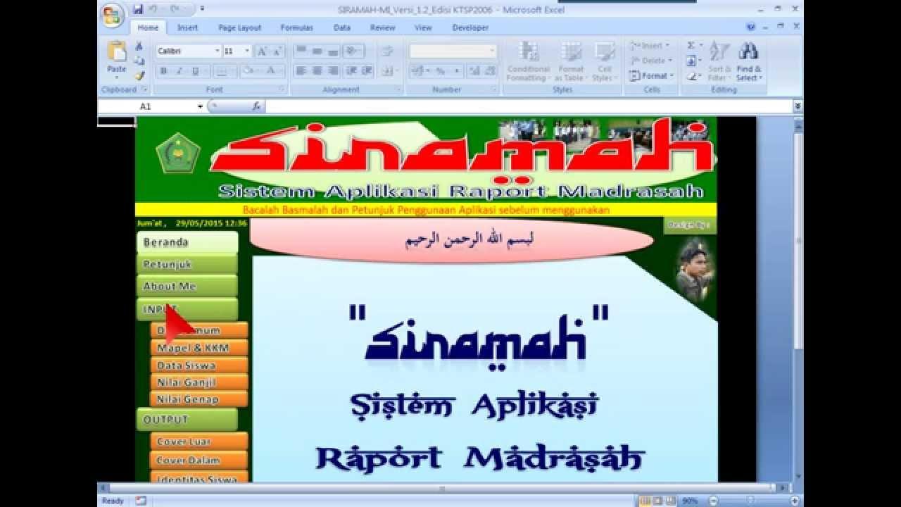 Sistem Aplikasi Raport Madrasah KTSP 2006 dengan Microsoft ...