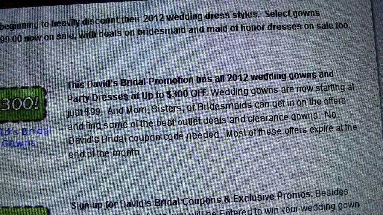 Davids bridal coupons