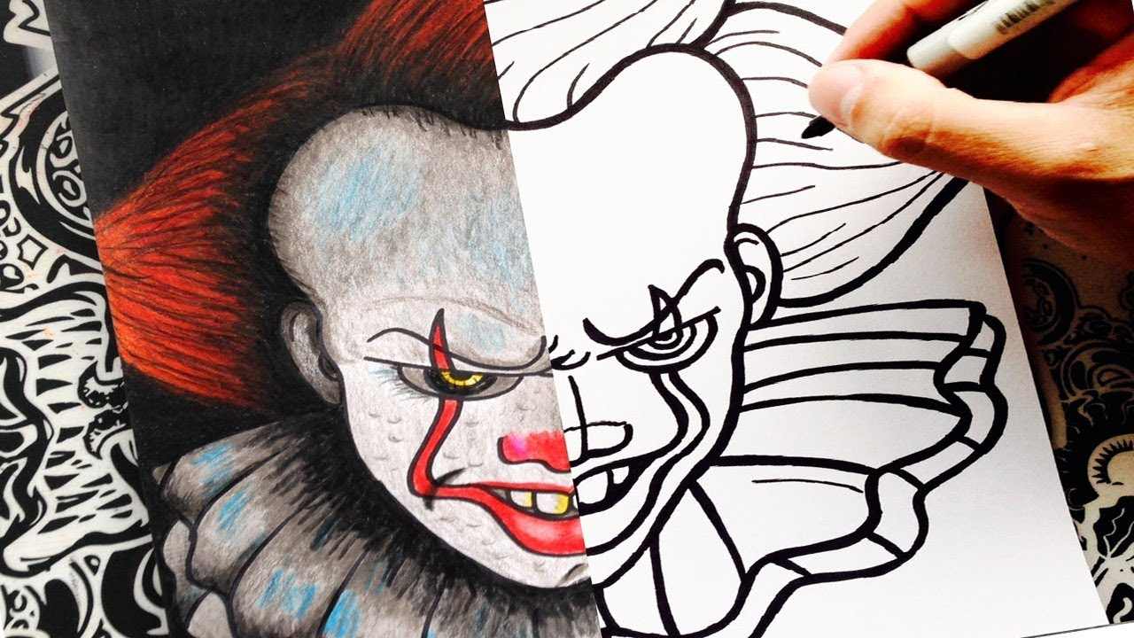 Como Dibujar A It Eso Paso A Paso Pennywise How To Draw It