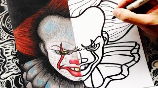como dibujar a it (eso) paso a paso | pennywise | how to draw it the clown | 2017