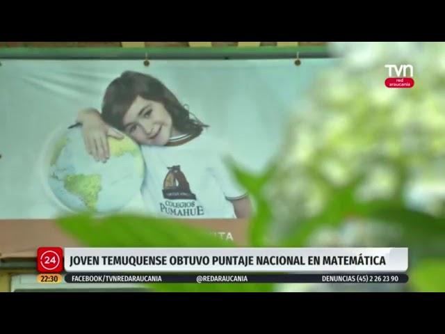 Nota de TVN red Araucanía sobre el puntaje nacional PDT del Pumahue Temuco.