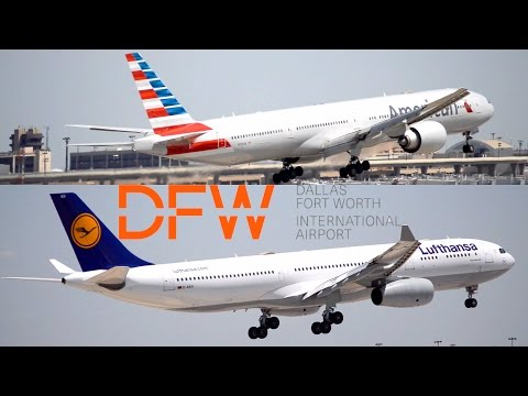 VARIOUS SIZES: Plane Spotting in Dallas-Fort Worth International Airport (DFW)