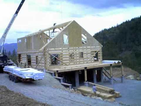 Our Stonemill Log Home Construction Timelapse