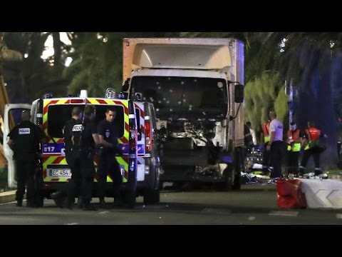 Photo shows truck used in Nice attack full of bullet holes