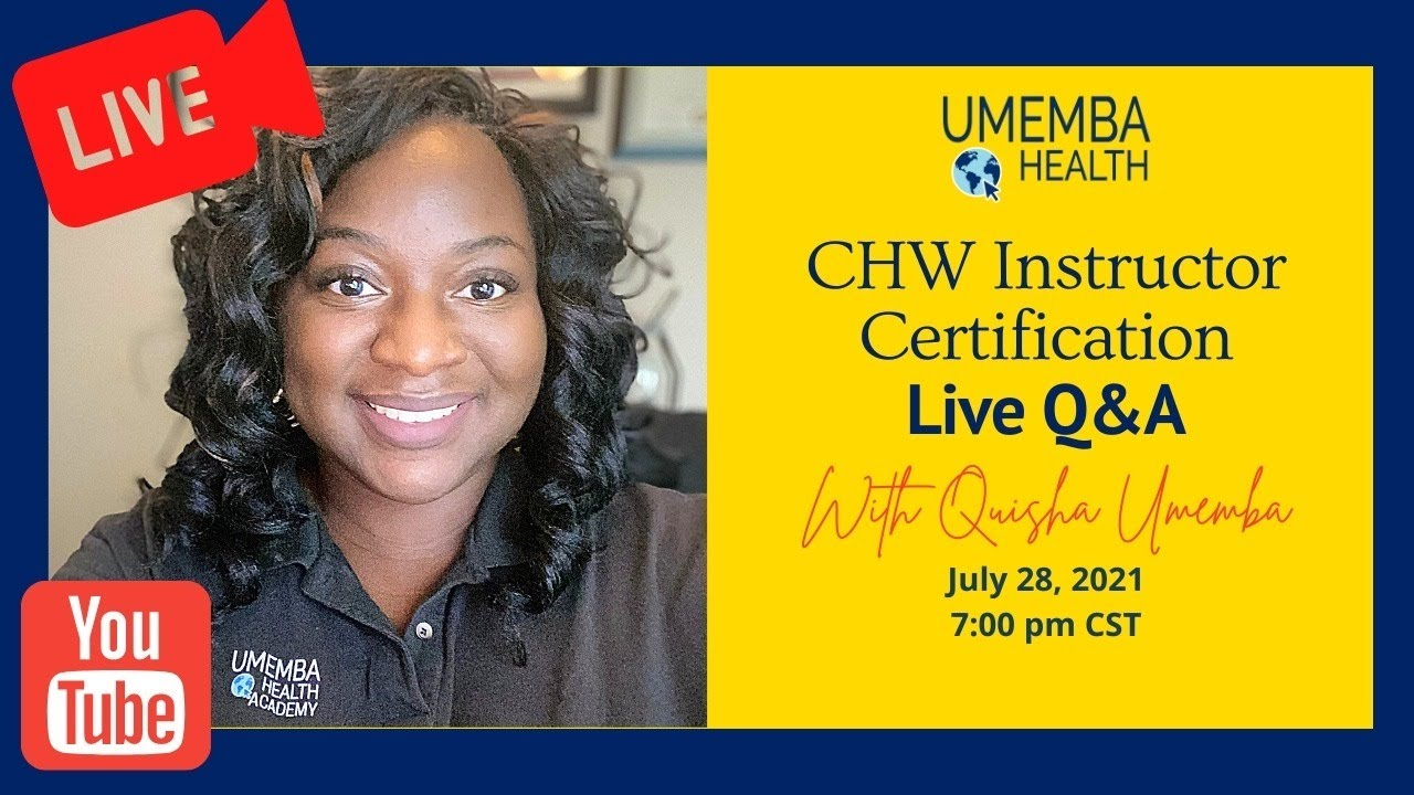 CHW Instructor Certification: LIVE Q&A