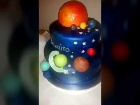 Galaxy Solar System Cake tutorial