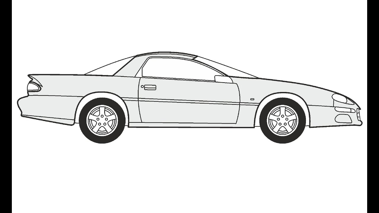 How to Draw a Chevrolet Camaro Z28 / Как нарисовать ...