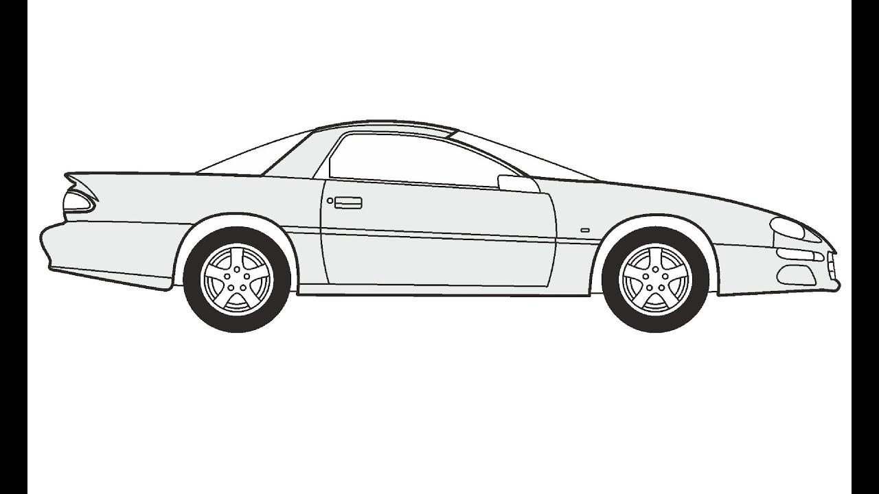 How to Draw a Chevrolet Camaro Z28 / Как нарисовать