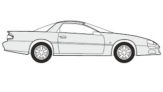 How to Draw a Chevrolet Camaro Z28 / Как нарисовать Chevrolet Camaro Z28
