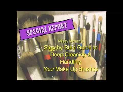 How to Deep Clean SYNTHETIC Make Up Brushes