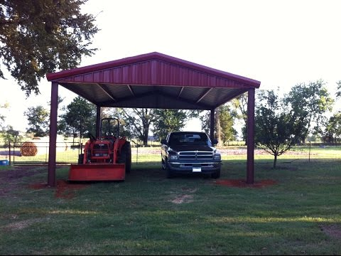 How To Build An All Metal Carport ~ From Start To Finish