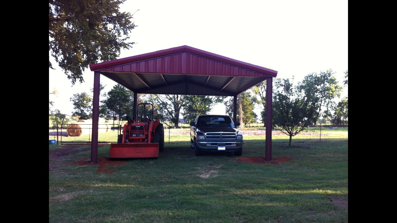 How To Build An All Metal Carport From Start To Finish