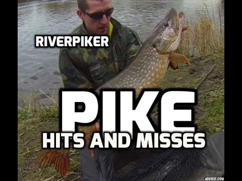 Pike Fishing - Lure Fishing For Pike - Hits And Misses, Plus A 17lb Pike (video 14)