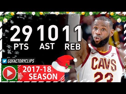 LeBron James Triple-Double Full Highlights vs Jazz (2017.12.16) - 29 Pts, 11 Reb, 10 Ast, BEAST!
