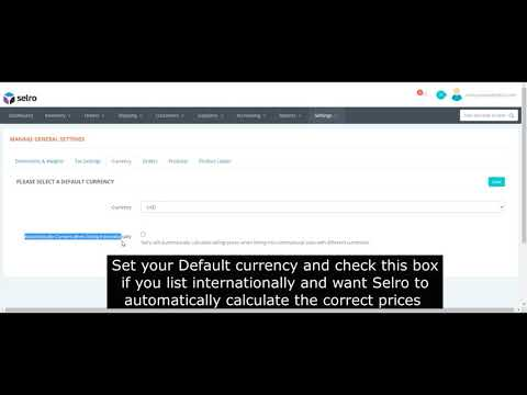 How to Set the Default Currency in Selro
