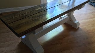 Rustic 2x4 Bench Build Timelapse