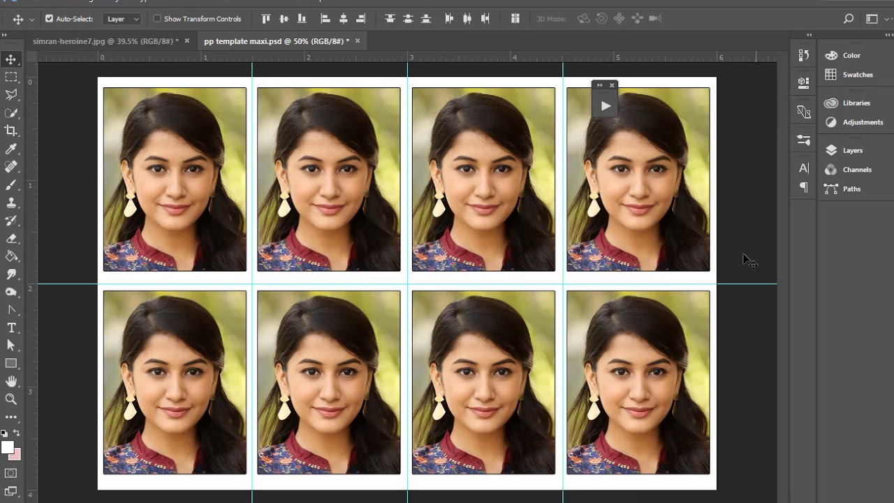 Create Photoshop Action For Passport Size Photo In 6x4 Maxi