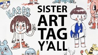 SISTER ART TAG - Doodling Prompts With My Sister