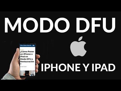 ¿Cómo Poner un iPhone o iPad en Modo DFU o Restauración?
