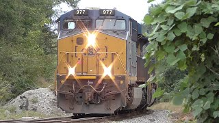 [1M] CSX Train Goes into Emergency with Two Scary Bangs, Hull - Auburn GA, 09/24/2015 ©mbmars01