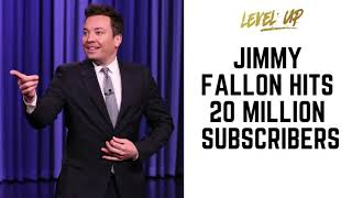 Jimmy Fallon Hits 20 Million Subscribers - #JimmyFallon #Lateshow #youtube