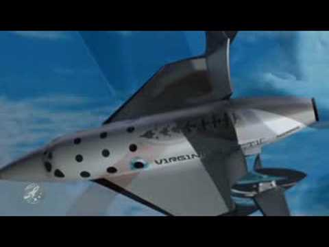 Animation of a Virgin Galactic flight from launch to landing